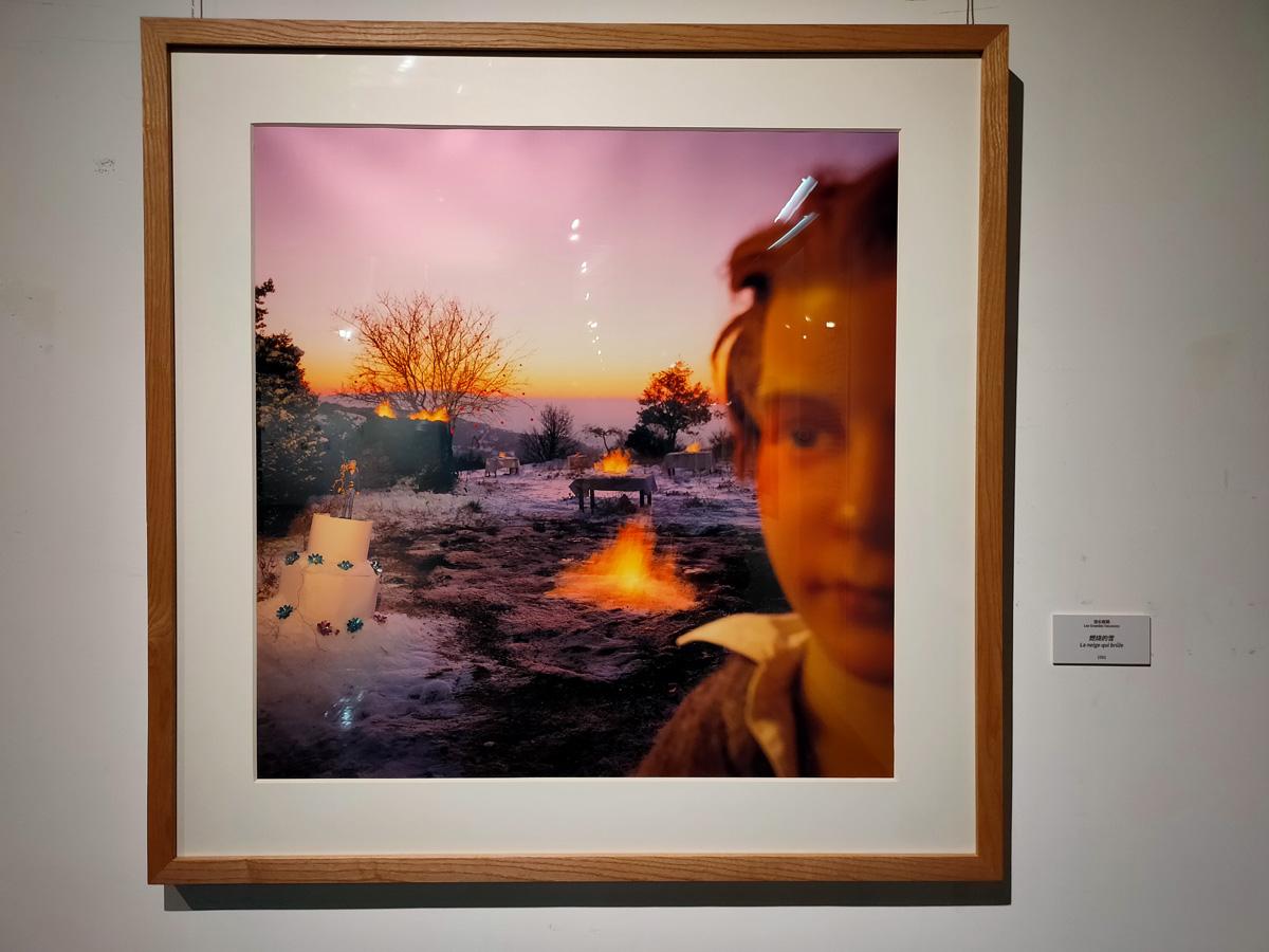 《悠长假期》系列 作品《燃烧的雪》1981