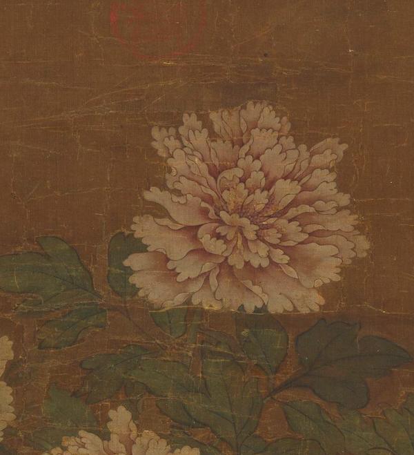 宋 赵昌 《画牡丹》轴(局部) 台北故宫博物院藏