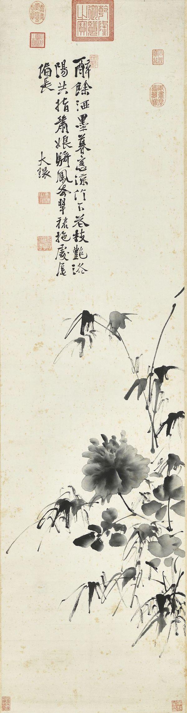 明 徐渭 《画牡丹图》轴 台北故宫博物院藏