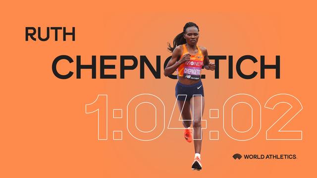 切普罗迪奇将女子半马成绩提高了29秒。