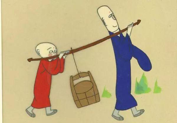 韩羽设计造型的动画片《三个和尚》