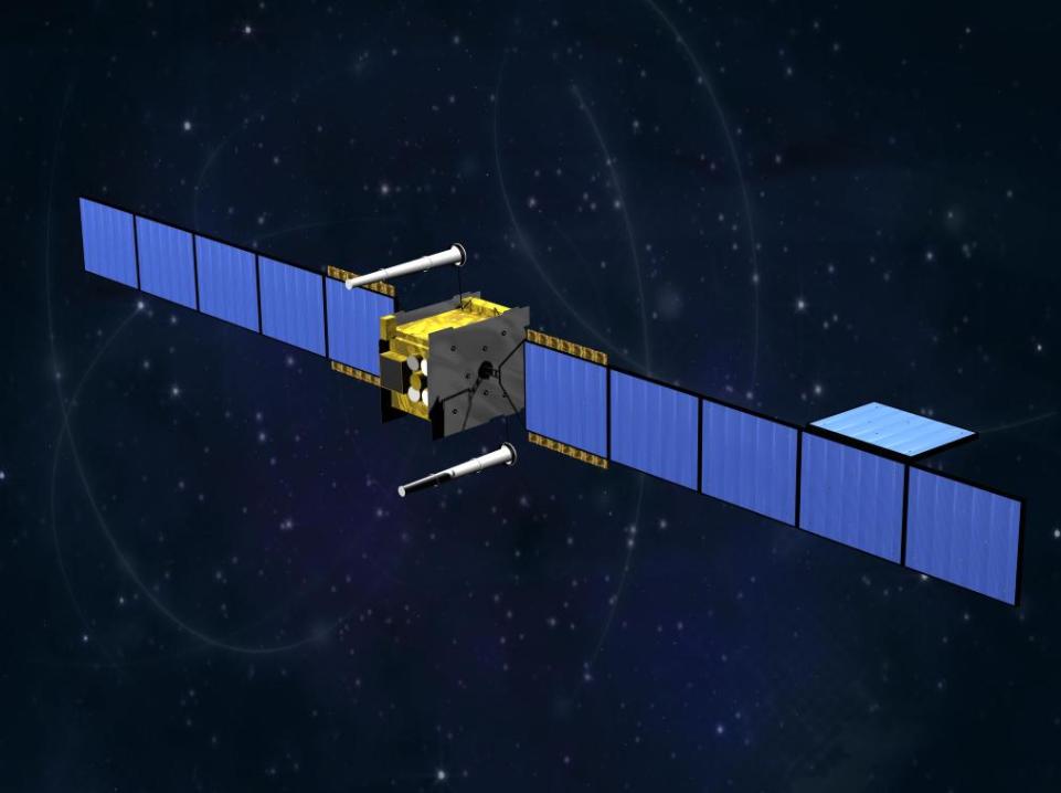 """英国""""天网""""-5军用通信卫星。"""