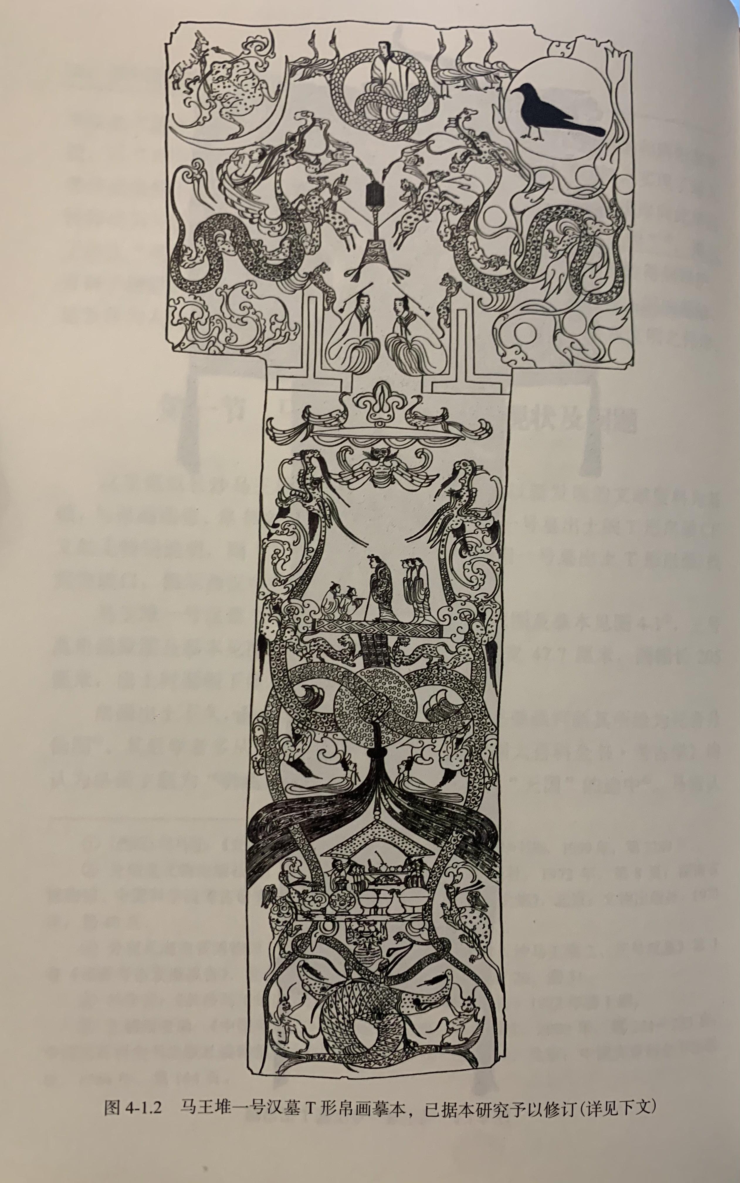 马王堆T形帛画线稿