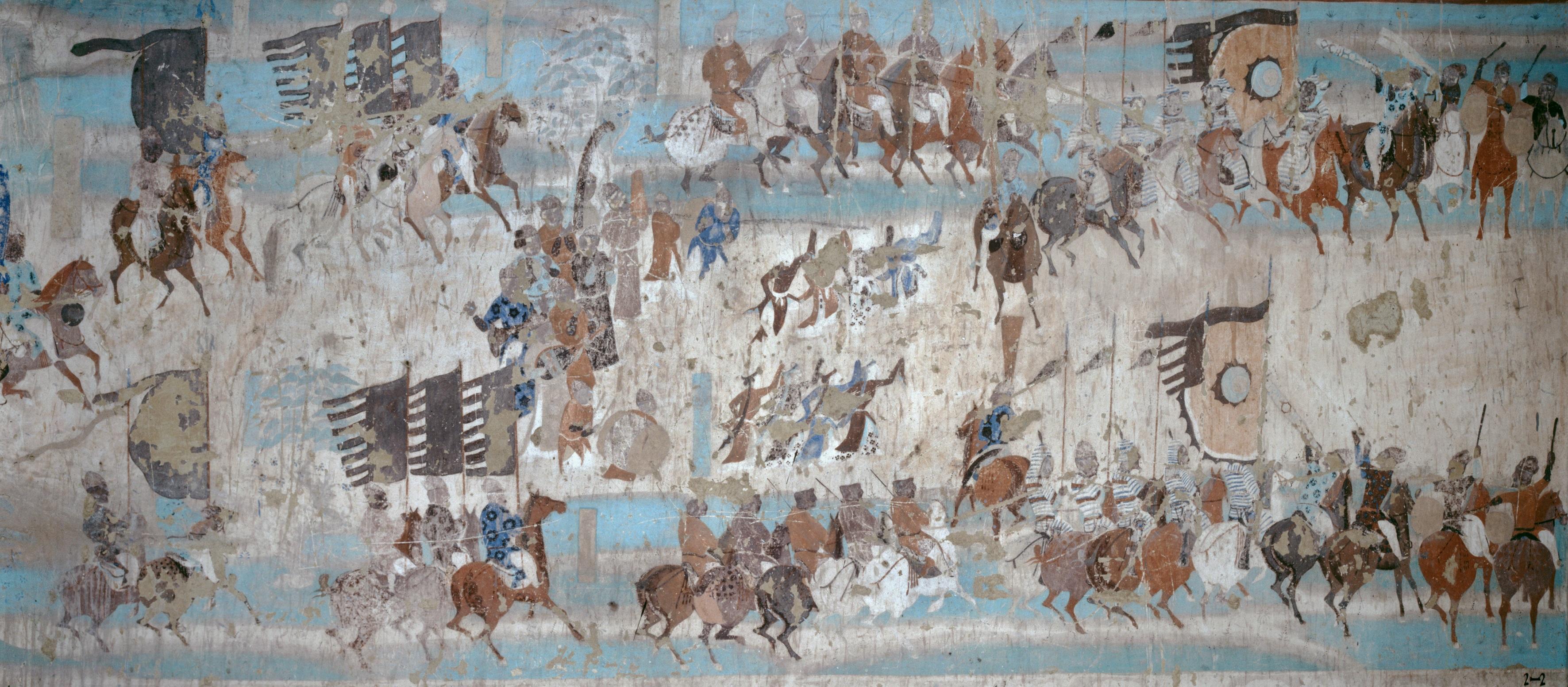 莫高窟第156窟河西节度使张议潮统军出行图(局部)
