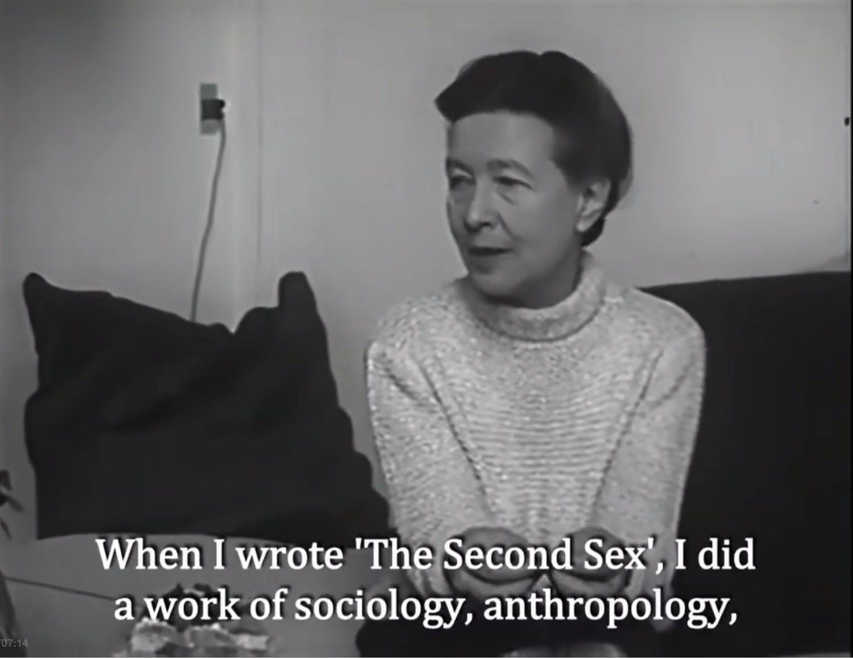 波伏瓦1967年接受加拿大广播电台(Radio-Canada)采访