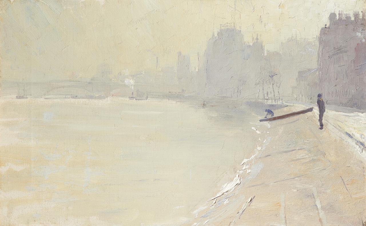 汤姆·罗伯茨(Tom Roberts) 《帕特尼的曳船路》