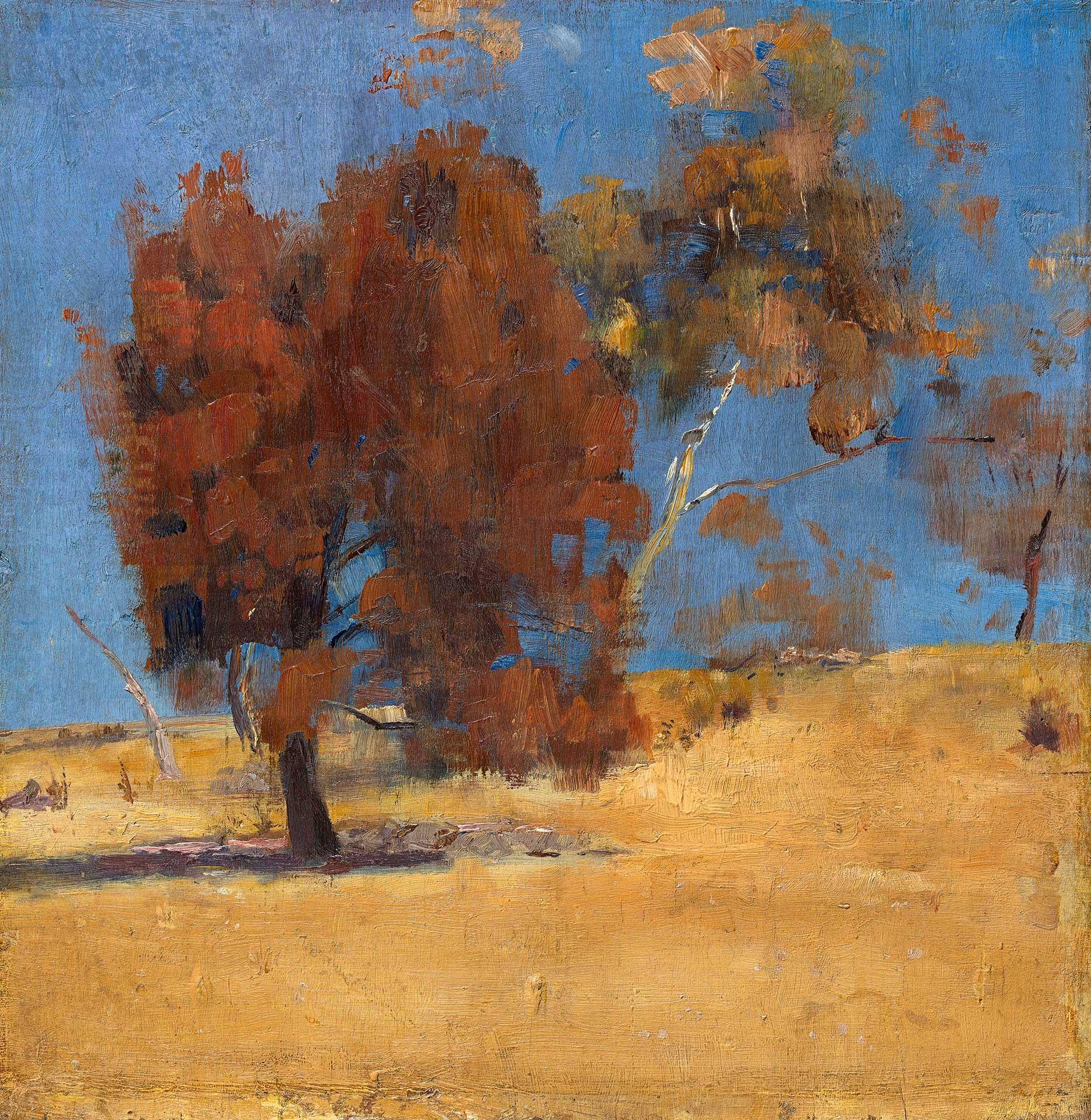 汤姆·罗伯茨(Tom Roberts) 《橡树与阳光》