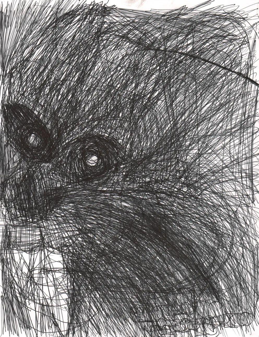 何塞·曼努埃尔·埃格亚,《无题》,2014,纸上细水彩笔,25 x 33 cm。艺术家供图。