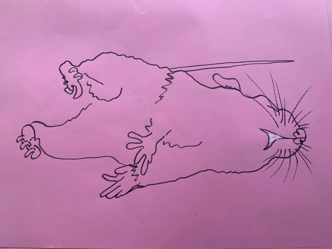 希瑟·菲利普森,《老鼠音乐》,2021,纸、卡片、纸板、记号笔、扩展软木塞、音频,尺寸可变。艺术家供图。