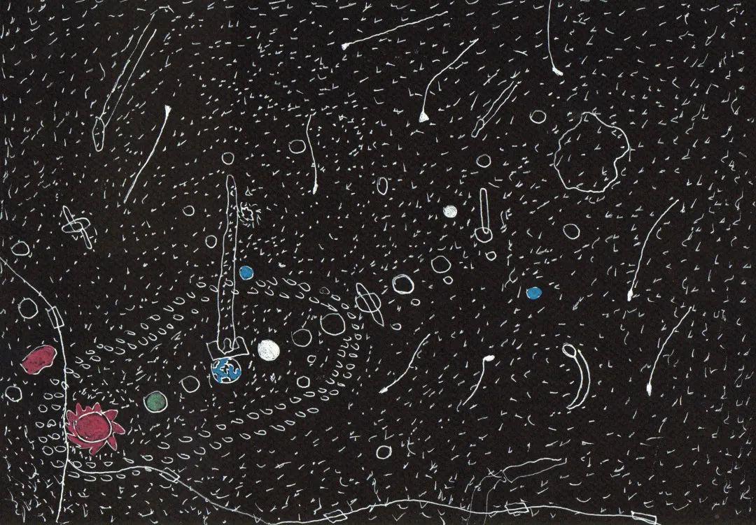 安德烈斯·费尔南德斯,《无题》,2015,纸上细水彩笔,30 x 21 cm。艺术家供图。