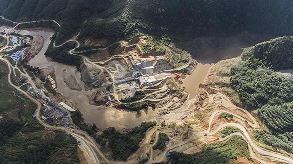 水电站全景。图片由吴迪调查拍摄并授权万博max官网地址新闻使用