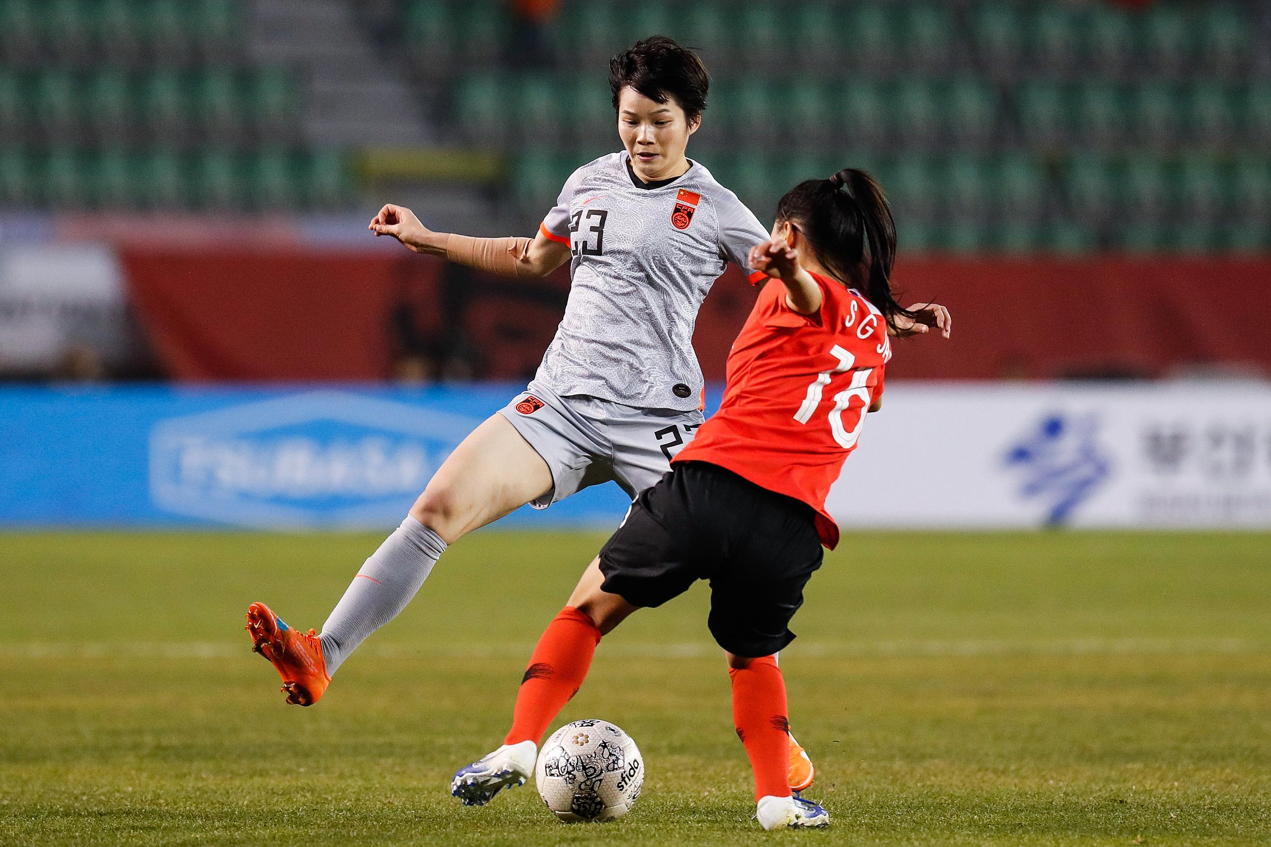 2019年东亚杯,张馨复出代表中国女足。