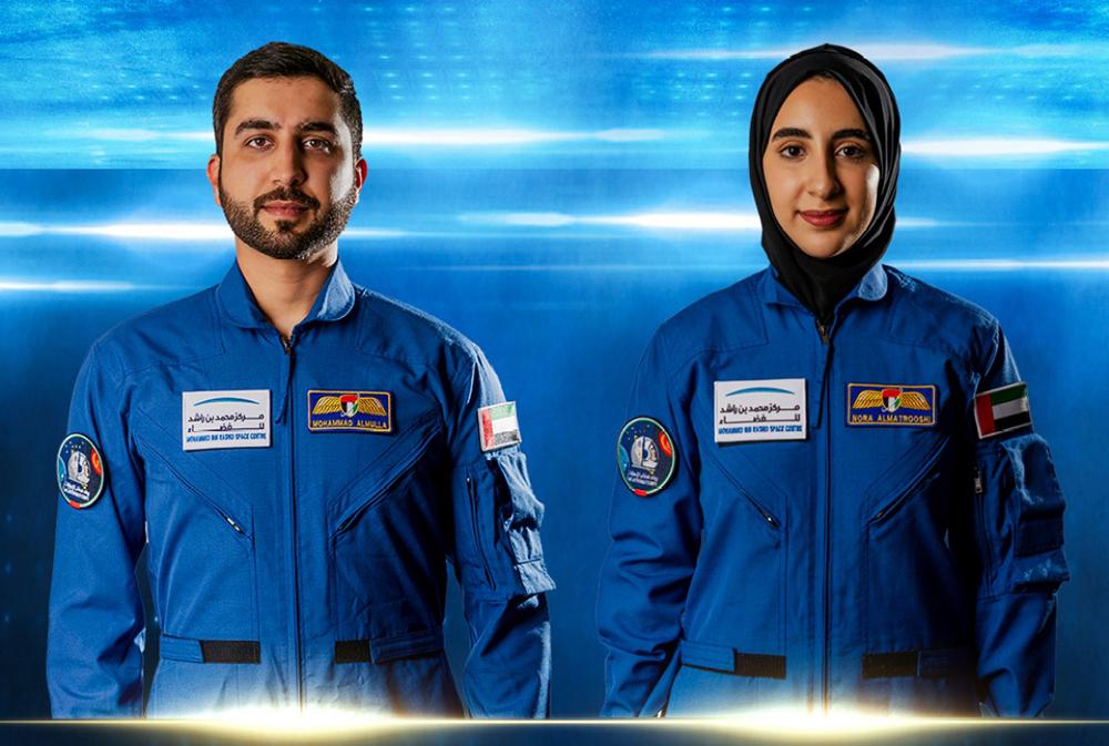 当地时间2021年4月10日,阿拉伯联合酋长国宣布选拔了两名新宇航员,其中一人为女性。努拉·玛特鲁希(右)由此成为该国首名女宇航员。