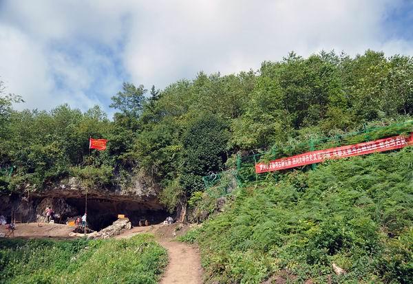 贵州贵安新区招果洞遗址外景