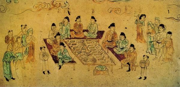 唐宴饮壁画
