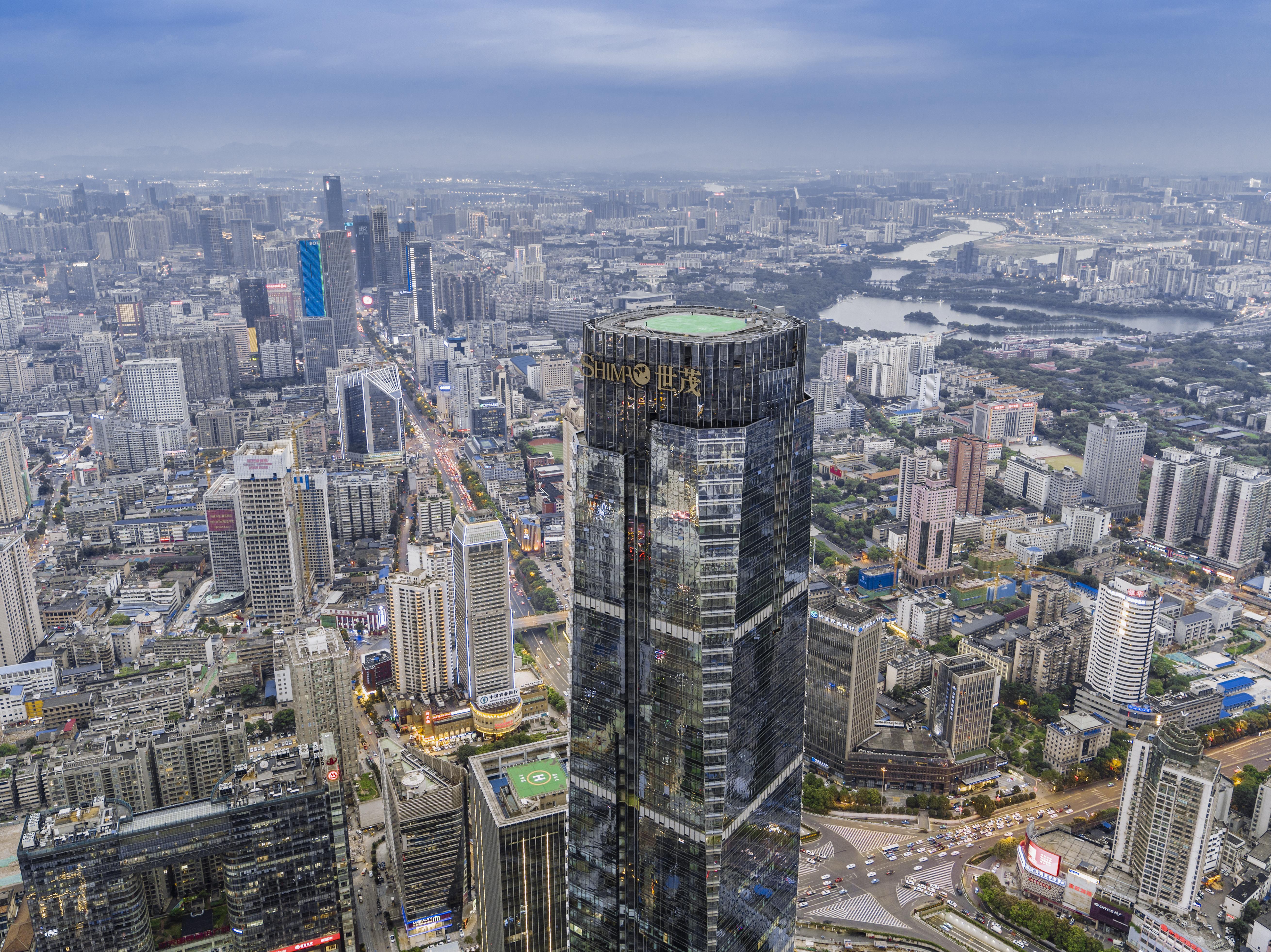 长沙世茂环球金融中心实景图