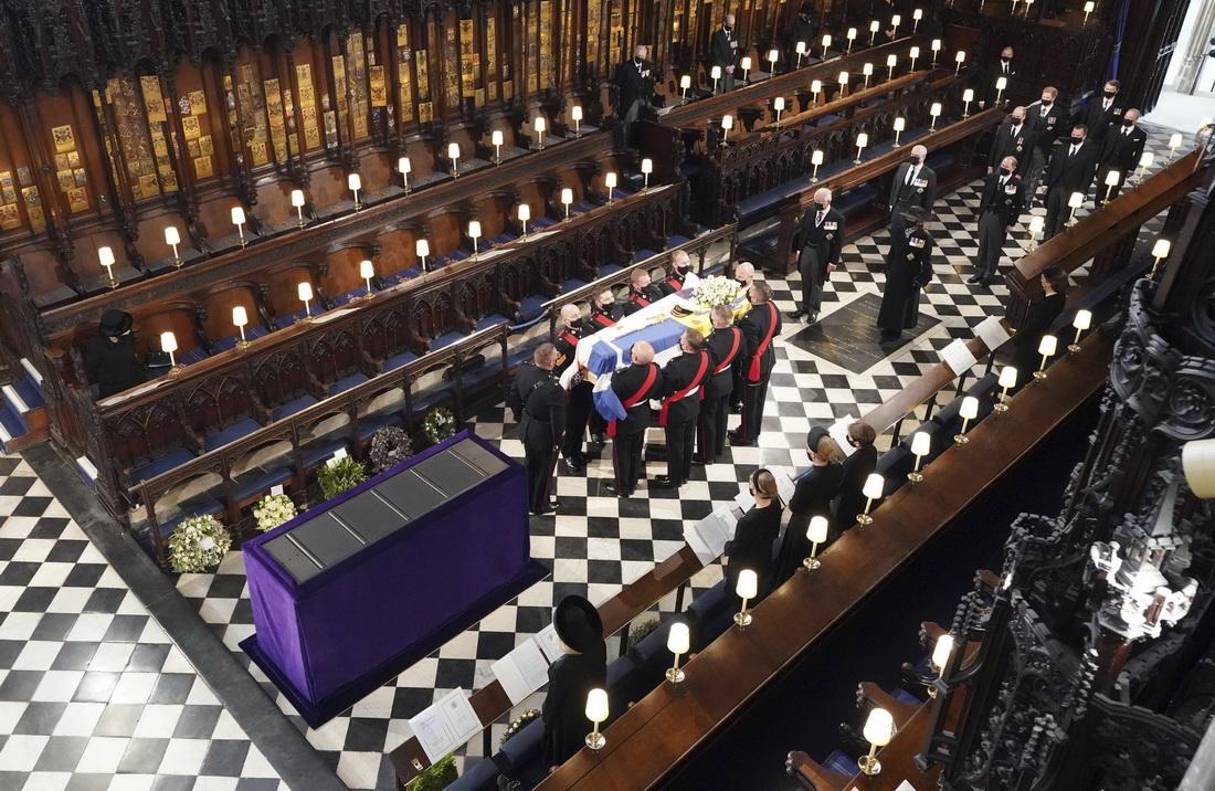 温莎城堡内的圣乔治教堂,爱丁堡公爵的葬礼举行。