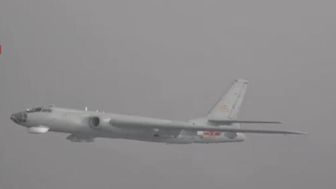 视频丨东部战区空军航空兵数十架轰6战机进行实弹突击训练