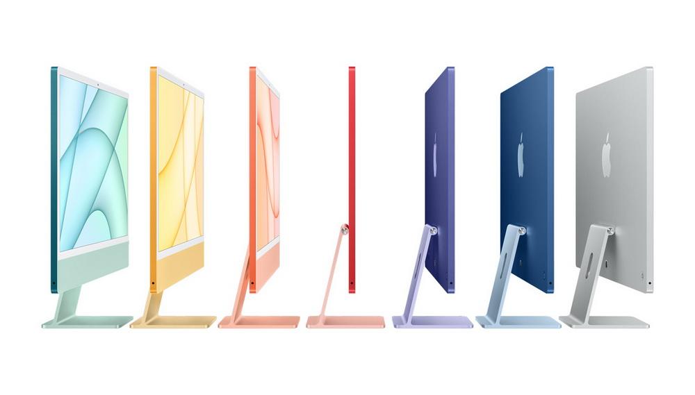 苹果新款iMac有七种颜色