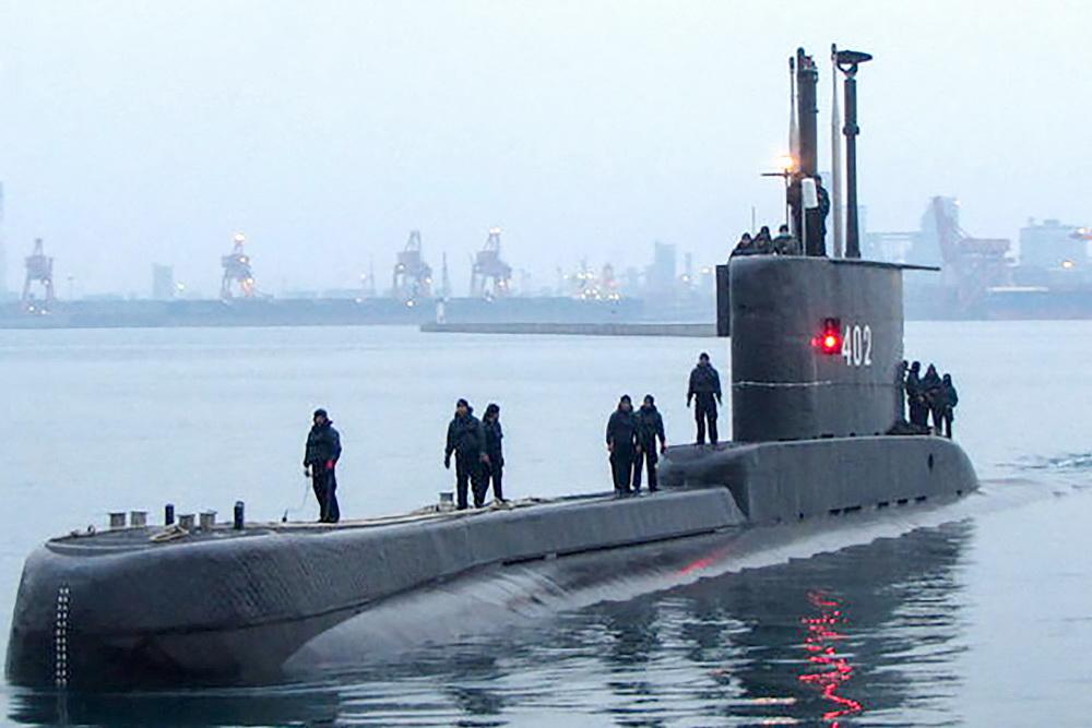 """印尼海军""""南伽拉""""号(KRI Nanggala-402)潜艇。 视觉中国资料图"""