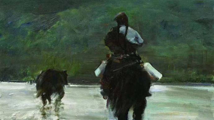 """""""八十回眸""""卢象太油画展:画普通、平凡的人和景"""
