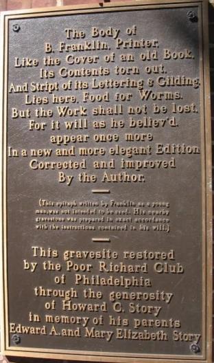富兰克林的墓志铭