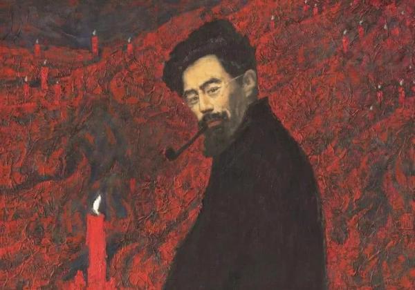 闻一多之子闻立鹏绘《红烛颂》(1979年)