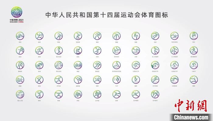 """十四运会和残特奥会体育图标发布,取自""""天人合一""""哲学思想"""