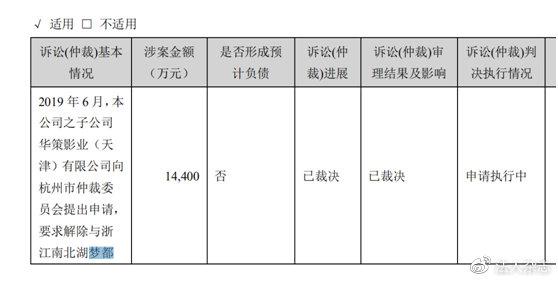 華策影視2020年年報 截圖
