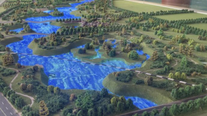 新華社調查網紅景區背后隱秘:引黃調蓄工程如何變身人造景觀