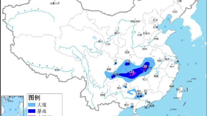 中央氣象臺發布今年首個暴雨藍色預警,局地有雷暴大風冰雹