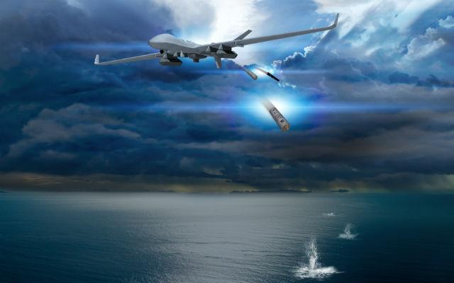 MQ-9B大型模块化多用途无人机的海军型可执行反潜任务。