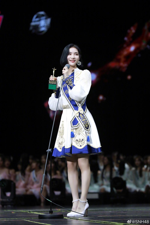 2019年,许佳琪获得SNH48总选第七名