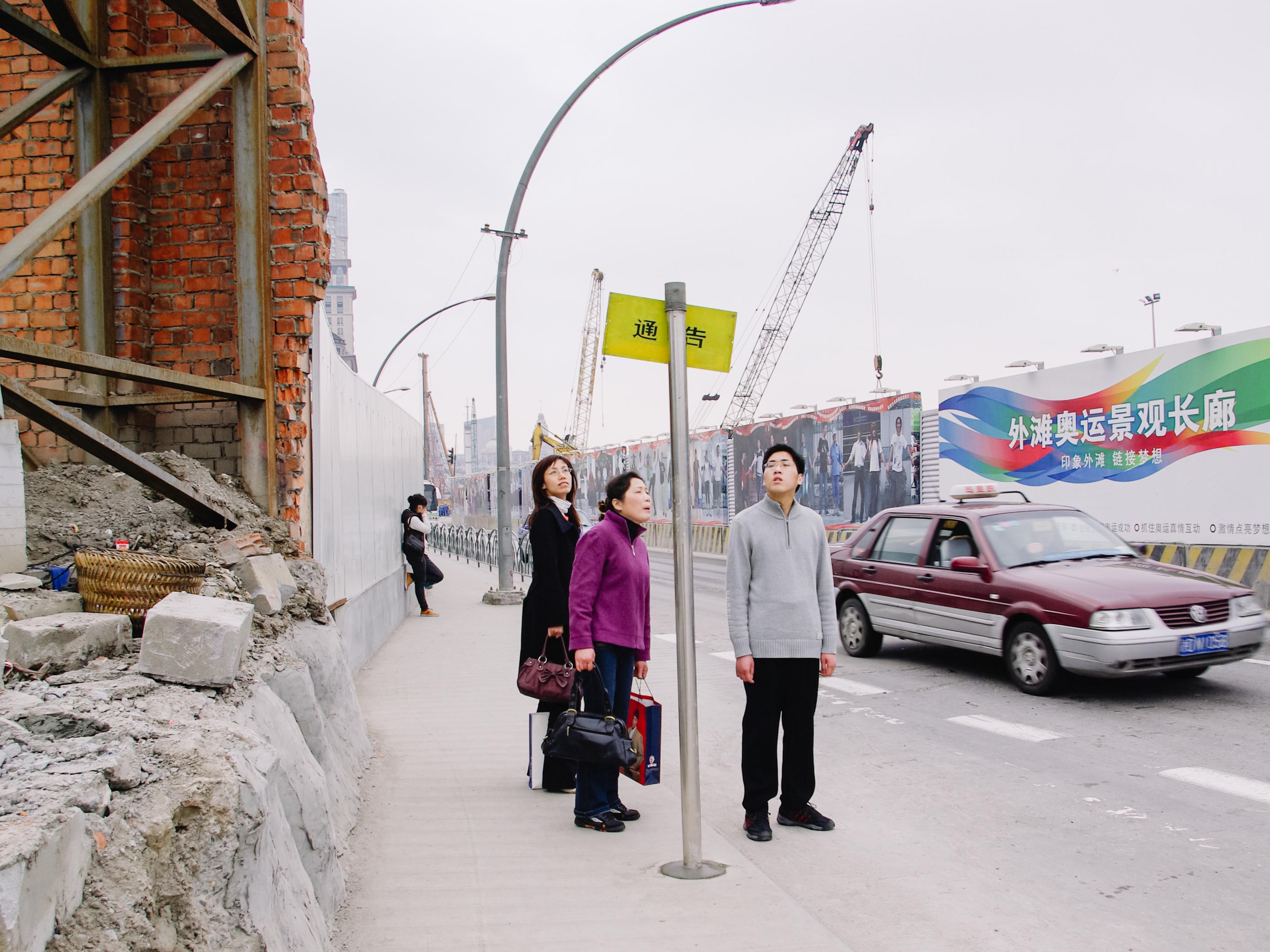 2008年3月,上海街头。本文图片均为 澎湃新闻记者 周平浪 图