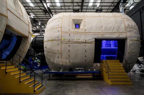 美国毕格罗公司研制的充气空间站,该技术也将参与到美国未来空间站竞标。