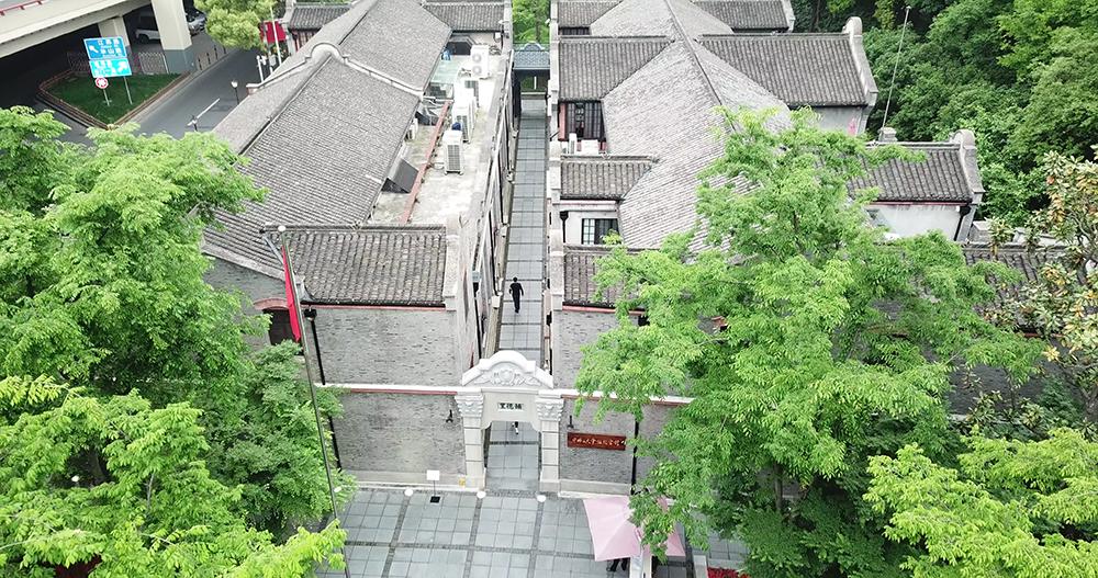 俯瞰中共二大会址纪念馆。澎湃新闻记者 张呈君 图