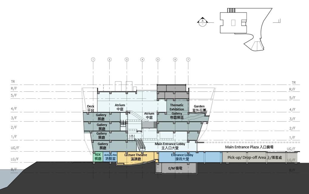 香港故宫文化博物馆内部设计图