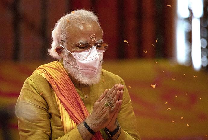 印度总理莫迪。澎湃影像 资料图
