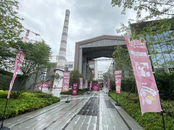 2021年5月4日下午,位于上海閔行區梅隴鎮益梅路91號的力波1987創意產業園向游客正式開放。 本文圖片均為澎湃新聞記者 俞凱 圖