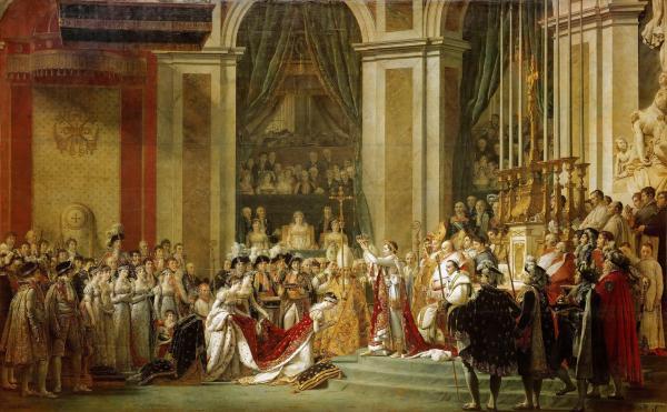 大卫画作:拿破仑一世加冕大典