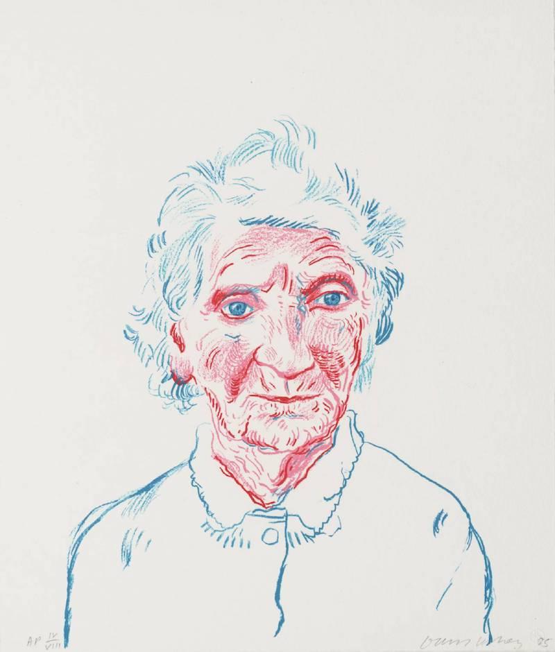 David Hockney Portrait of Mother III 1985