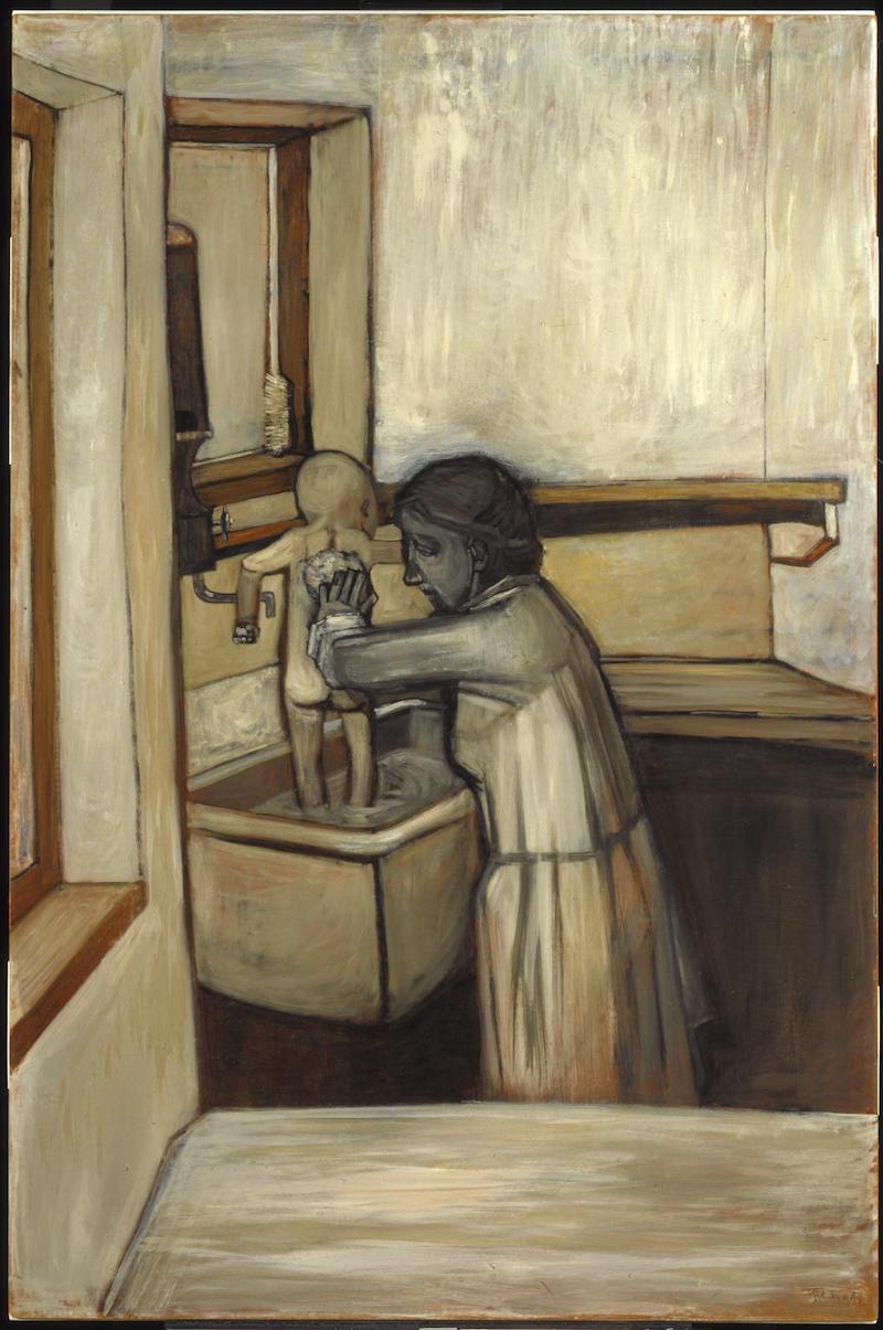 Jack Smith Mother Bathing Child 1953