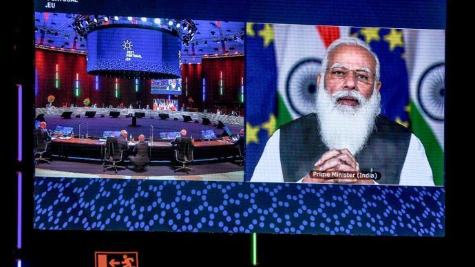 欧盟领导人与印度总理举行会晤,双方同意重启自贸协议谈判