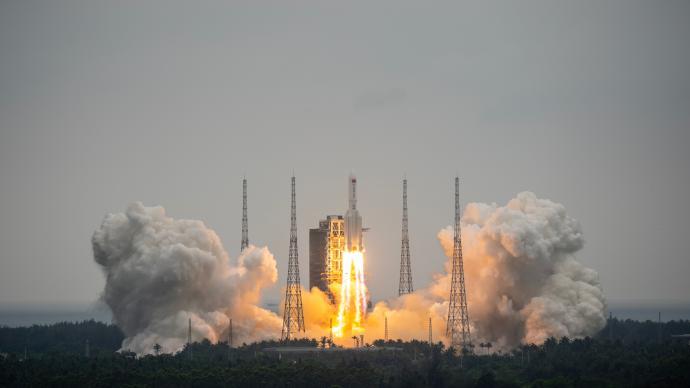 中国官方公布长征五号B遥二运载火箭末级残骸再入大气层情况