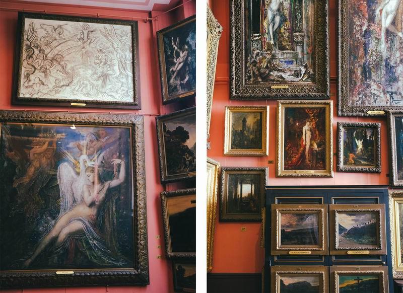 画室空间宽敞,墙壁上挂满了他的画作。