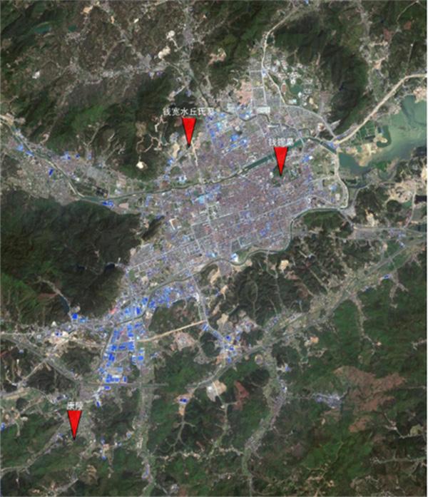 临安区吴越国王陵分布图杭州网 图