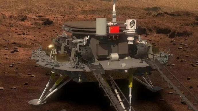 天问一号祝融火星车发布第一条微博:地球的朋友们,大家好