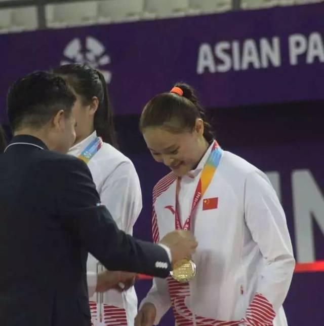 王亚男拿到亚残运会冠军。