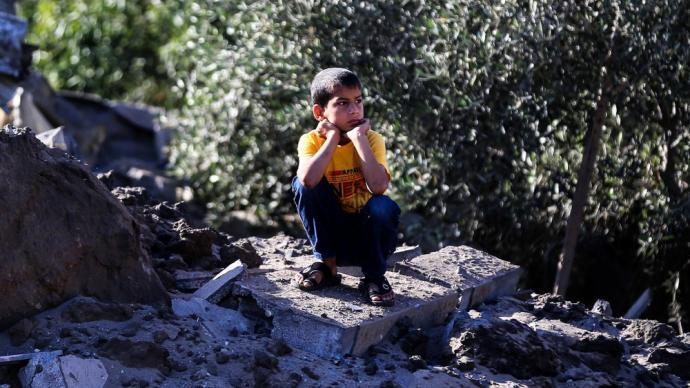 早安·世界|巴以冲突致近4万名巴勒斯坦人申请避难,双方或从20日开始停火