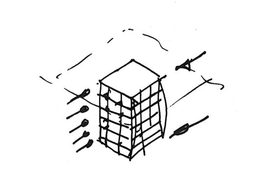 在常规建筑物设计时,垂直于面的风通常是最不利工况
